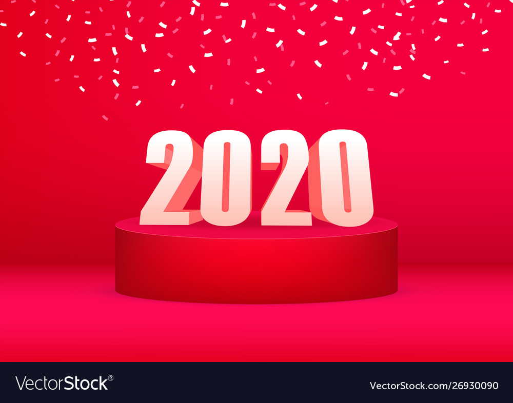 2020 happy new year advertising banner