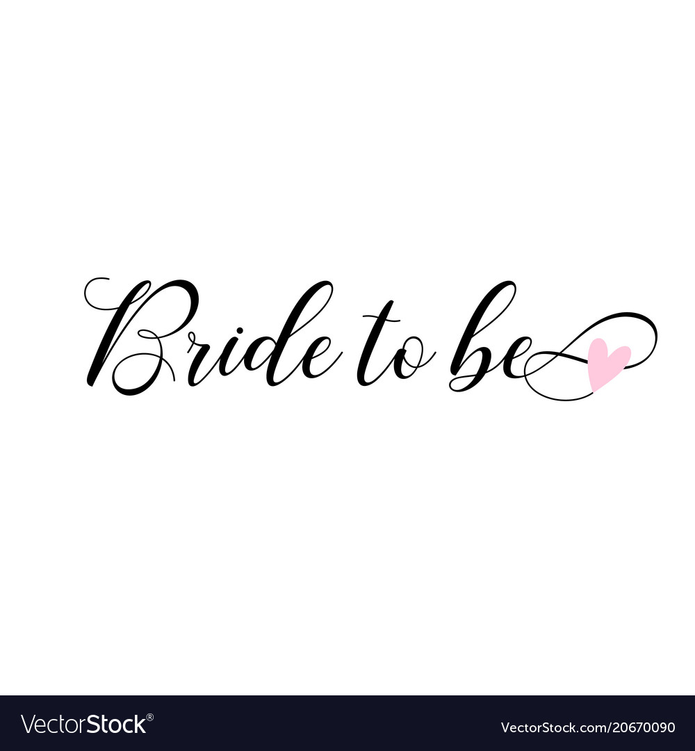 Bride to be lettering card invitations Royalty Free Vector