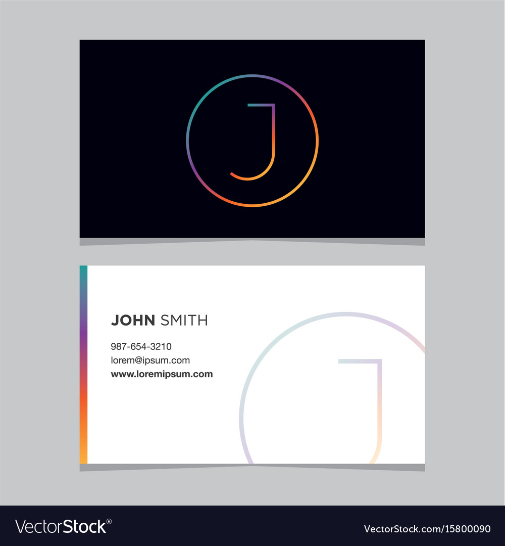 Business-card-letter-j