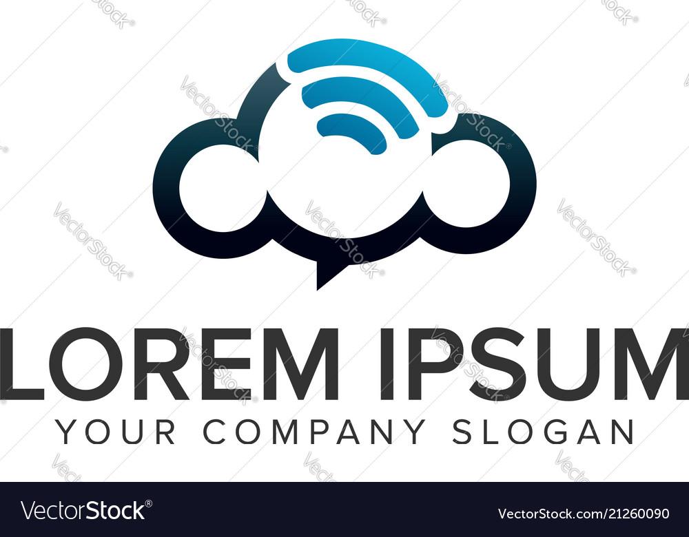 Cloud wireless logo