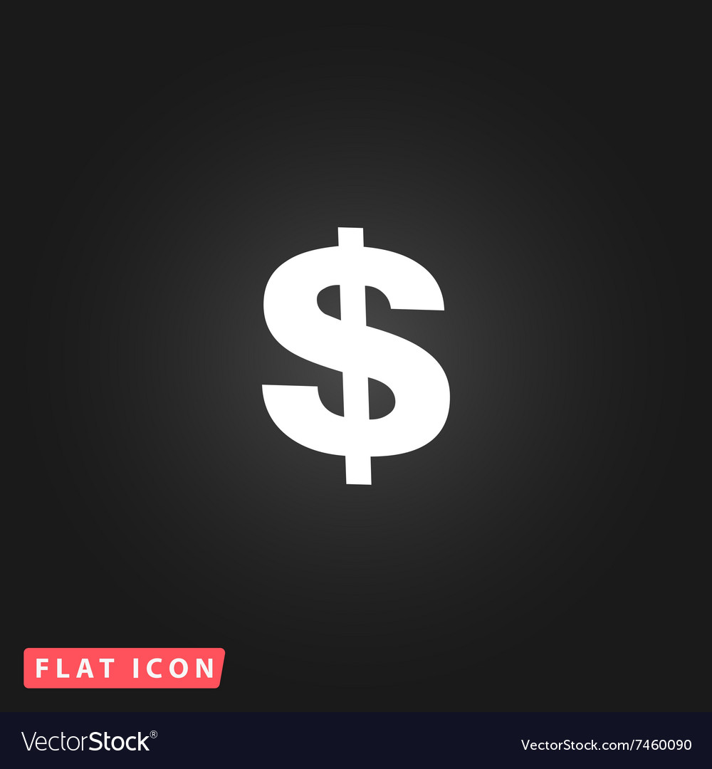Dollar Single icon vector image