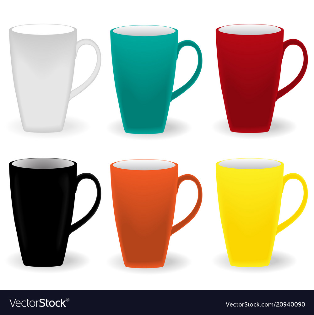 Elegant colored cups