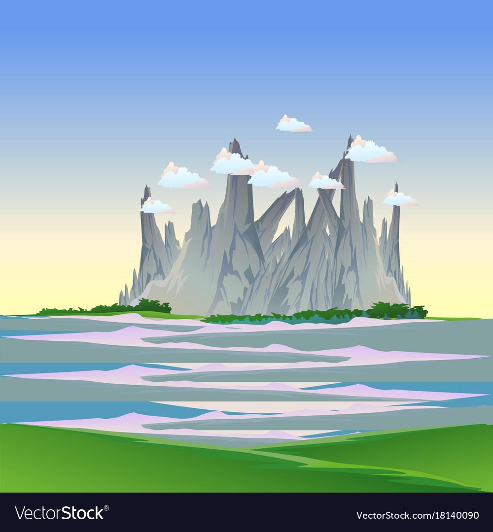 Mountain landscape nature background travel sky