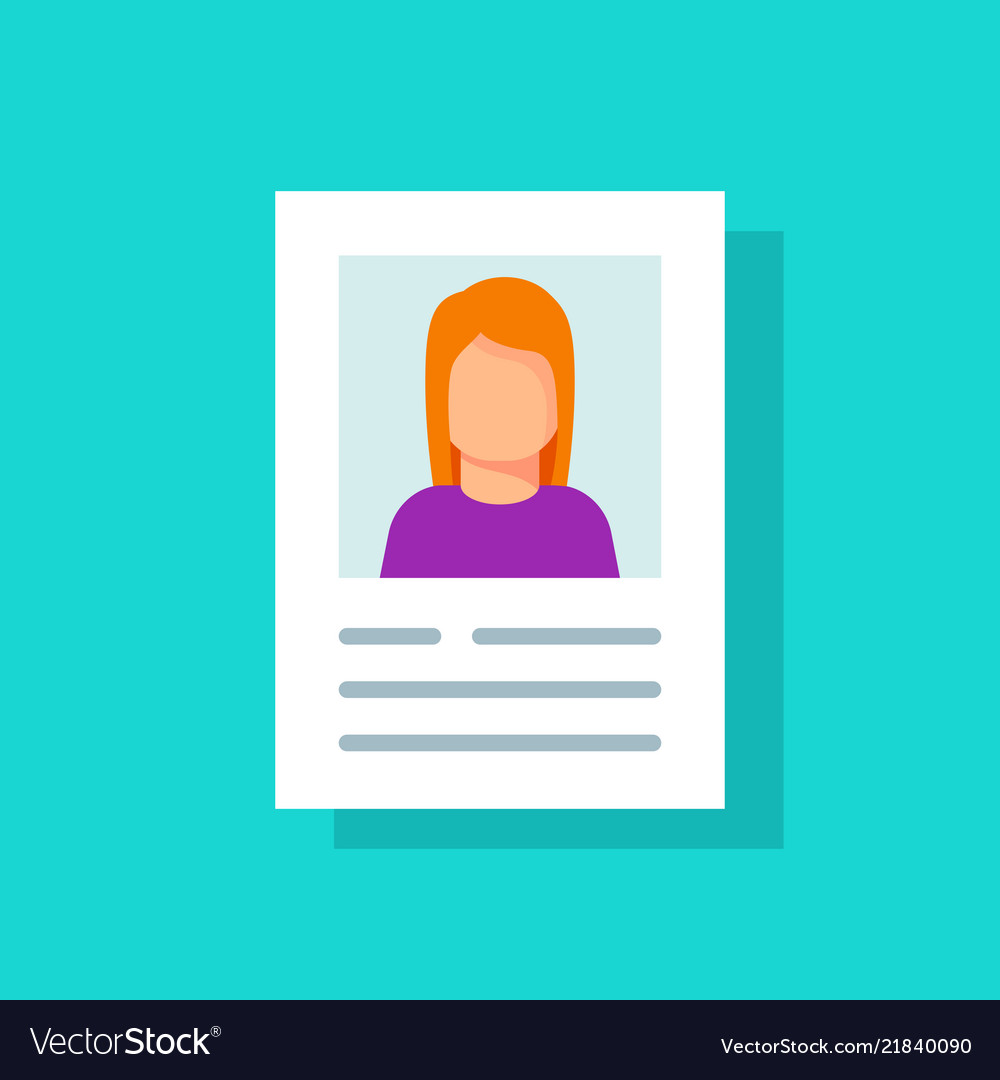 Personal info data account pictogram idea flat