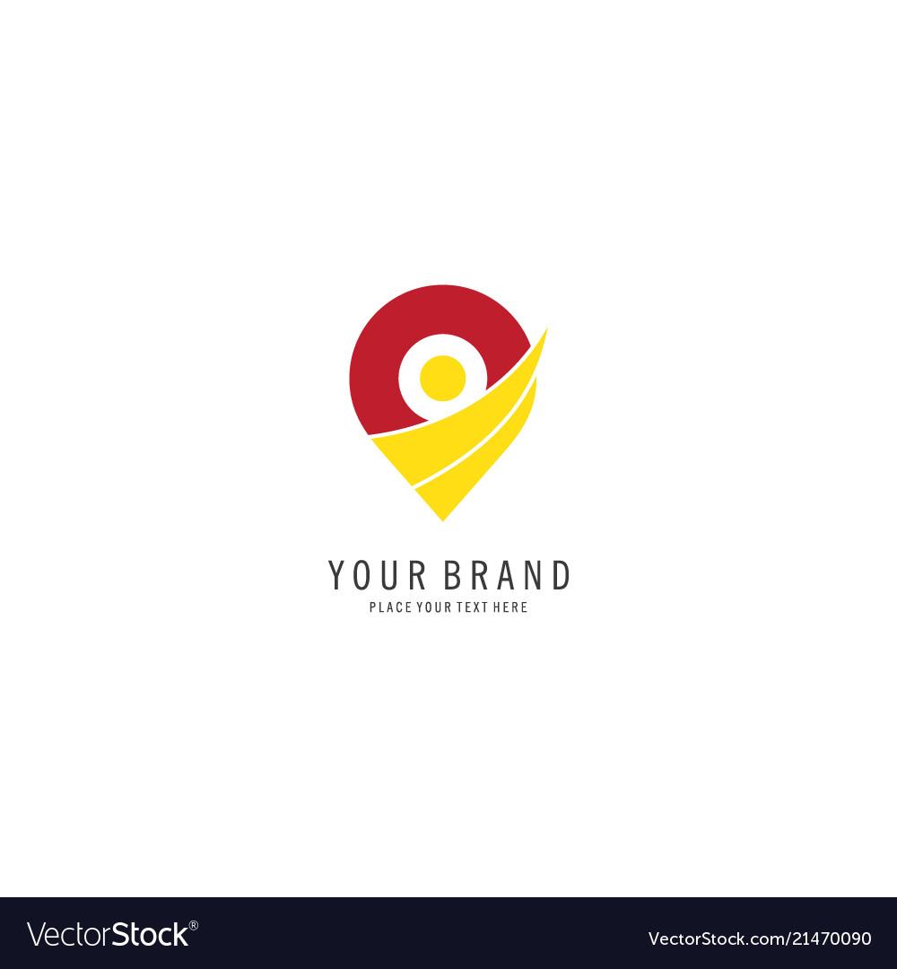 Pin location logo