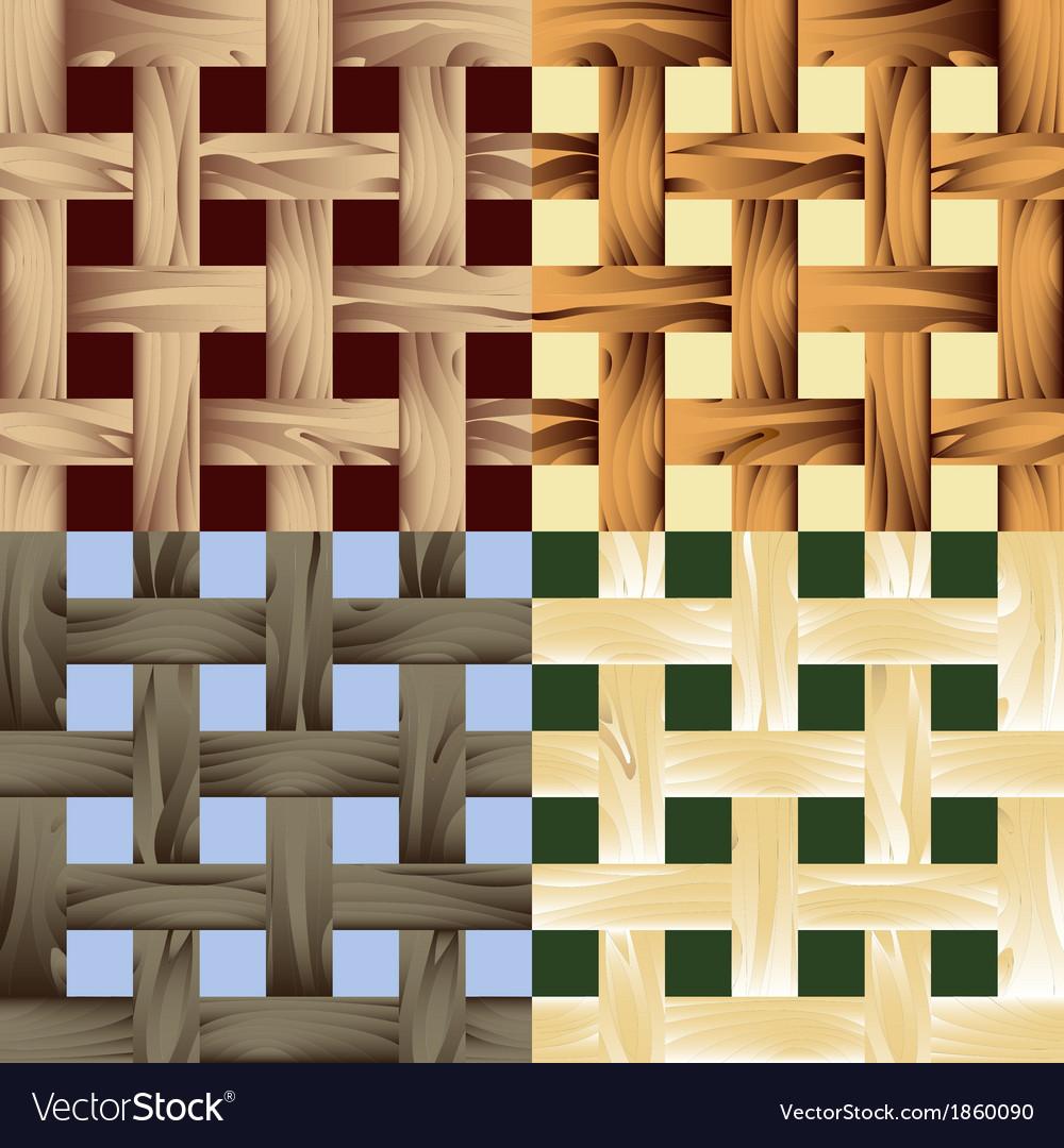 Seamless wooden lath pattern