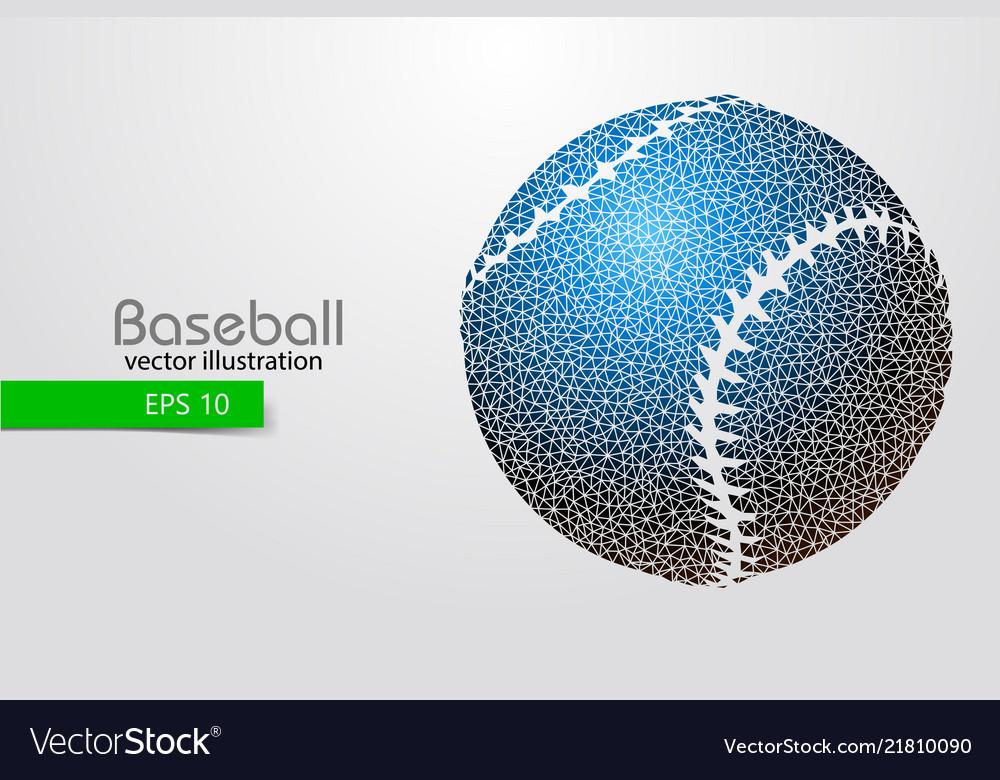 Silhouette a baseball ball