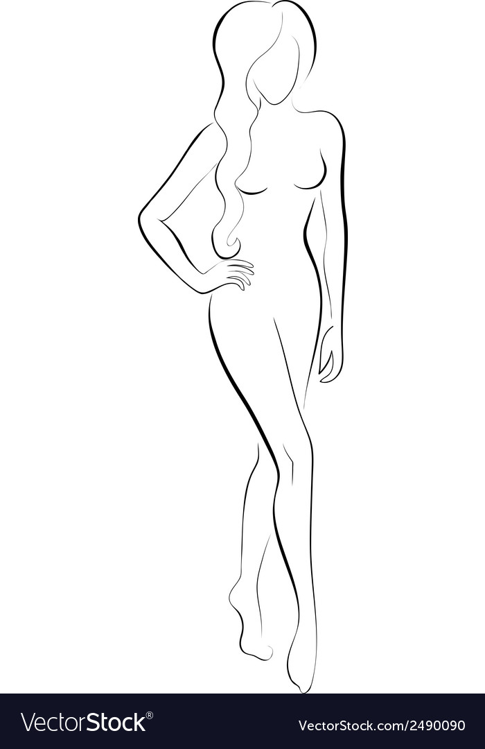 Slim woman vector image