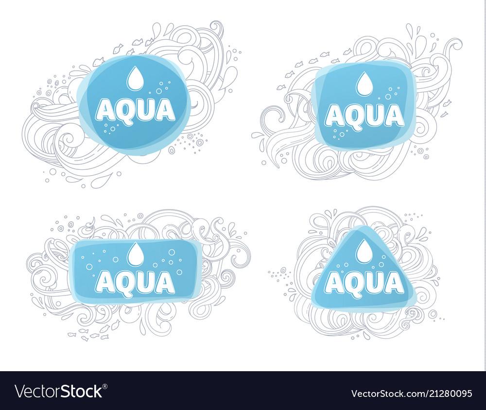 Aqua logos and emblems