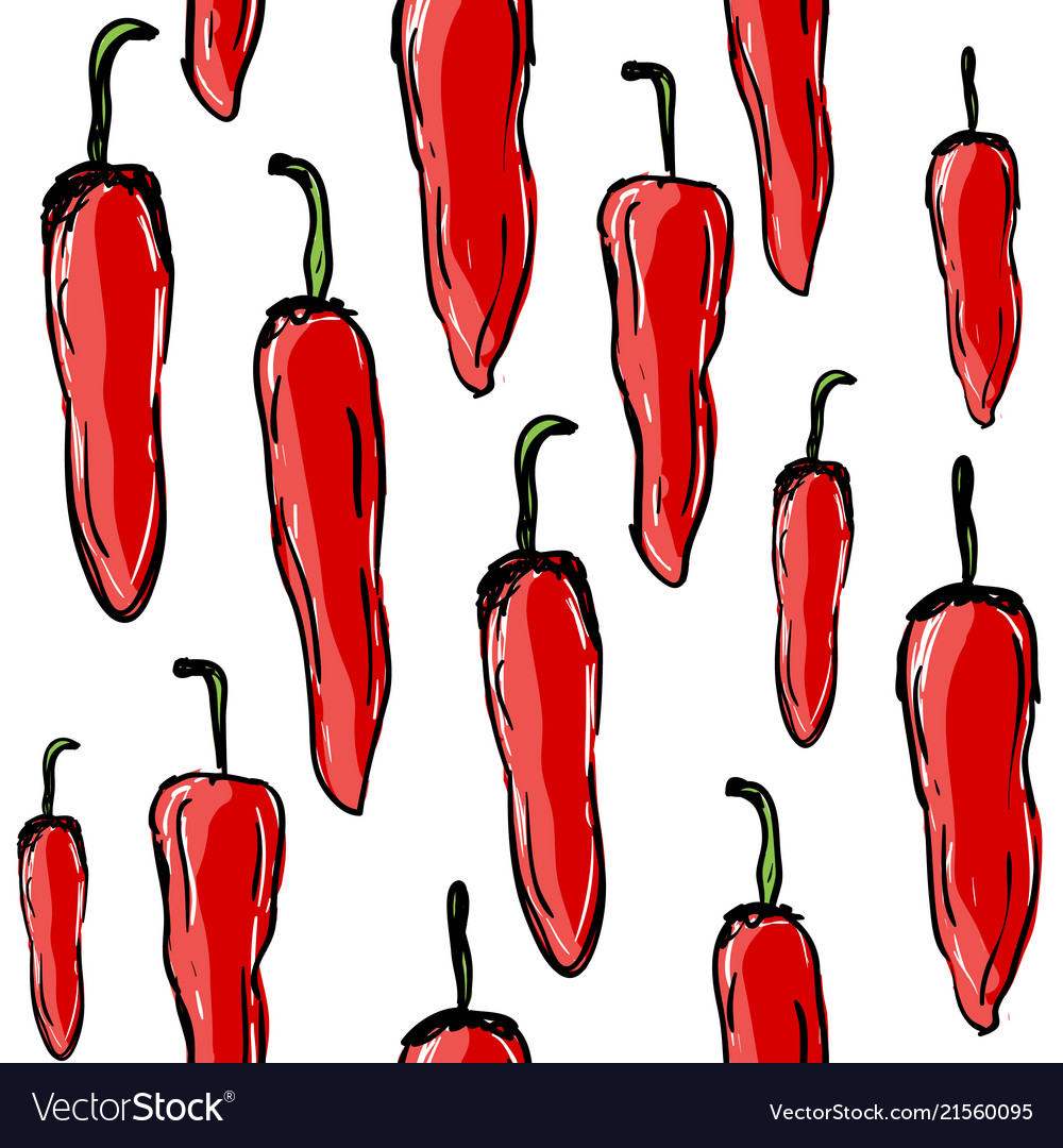 Chilli peppers seamless pattern