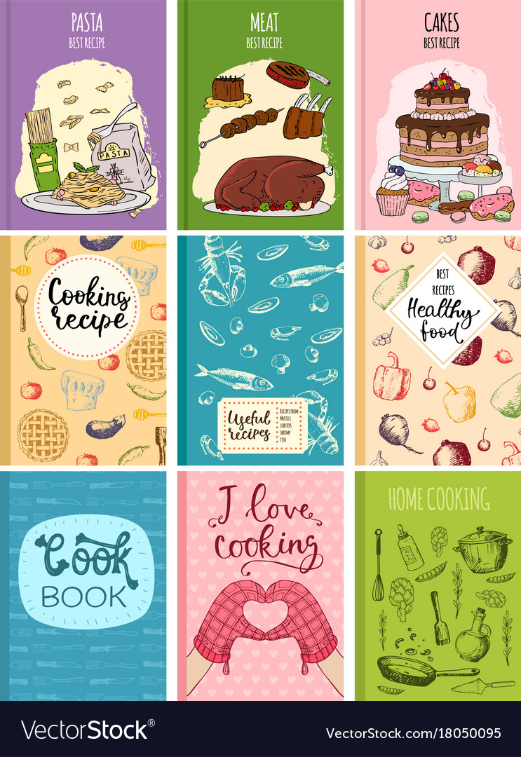 Cooking Recipe Books Cover Kitchen Design Cards