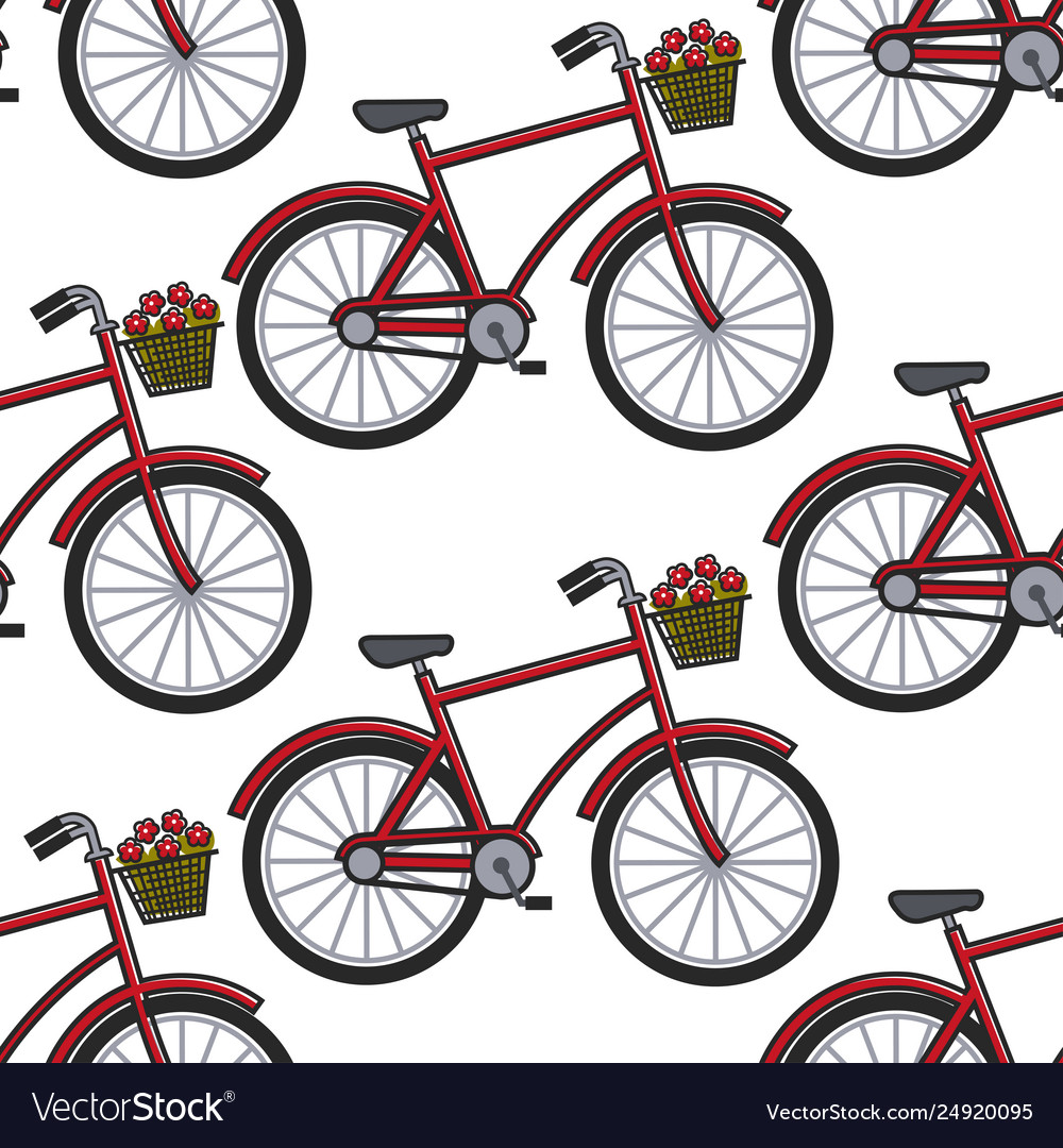 French culture symbol bicycle with flower basket