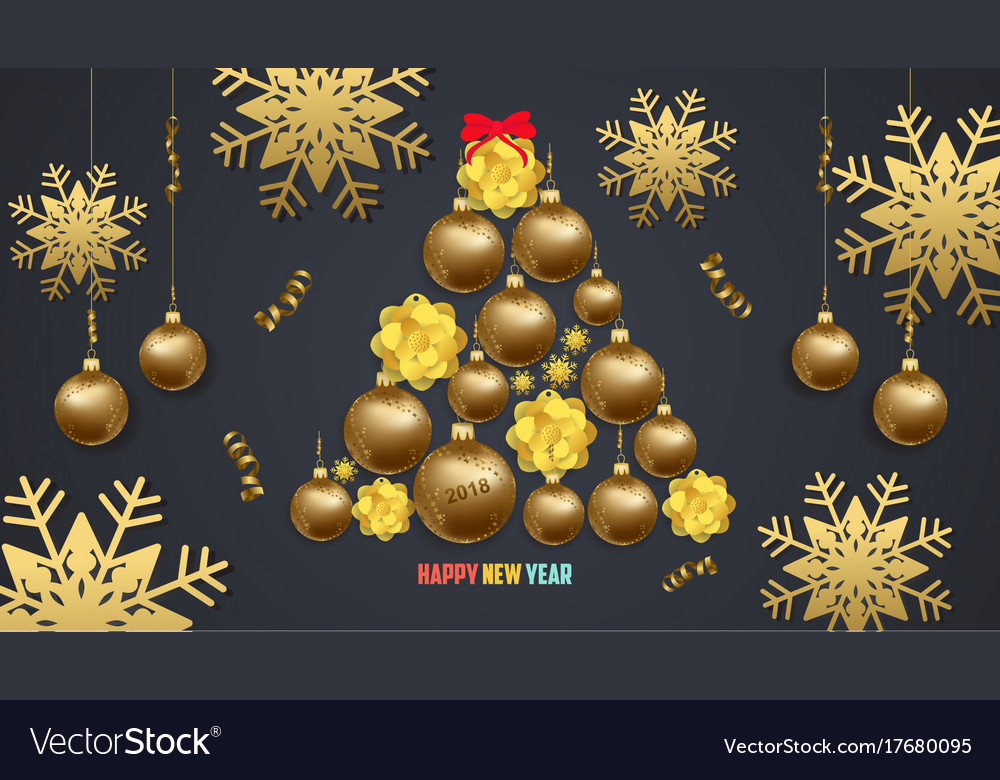 Luxury elegant merry christmas and happy new year