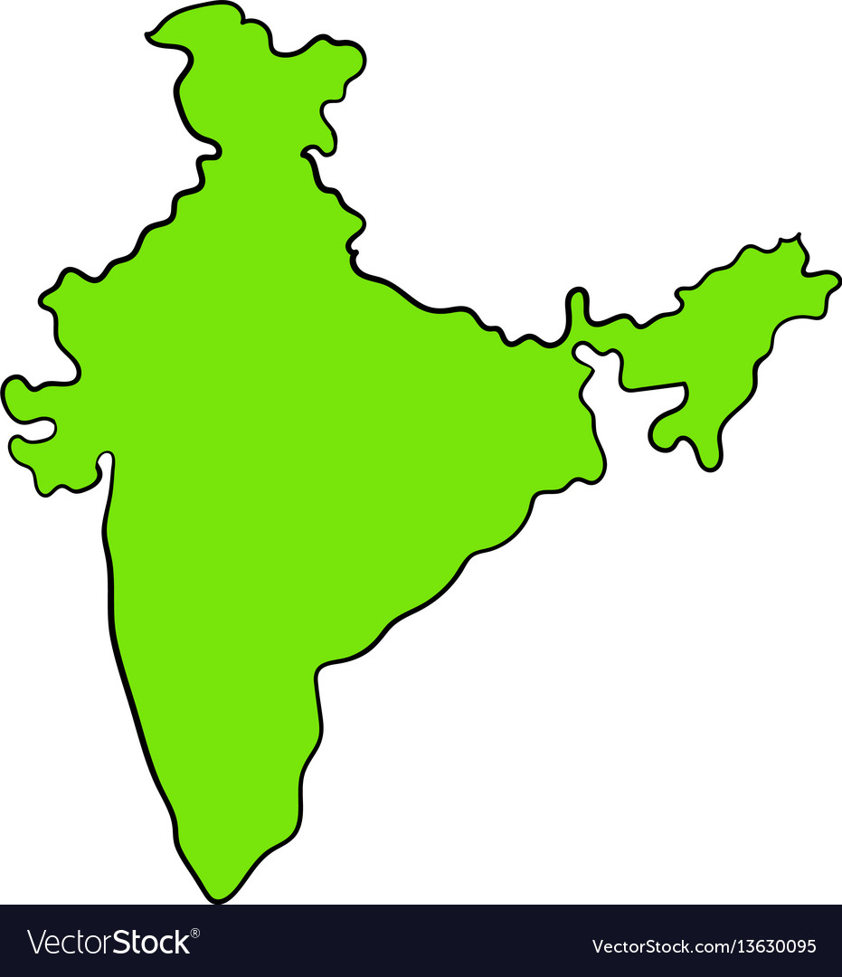 Map of india icon cartoon vector image