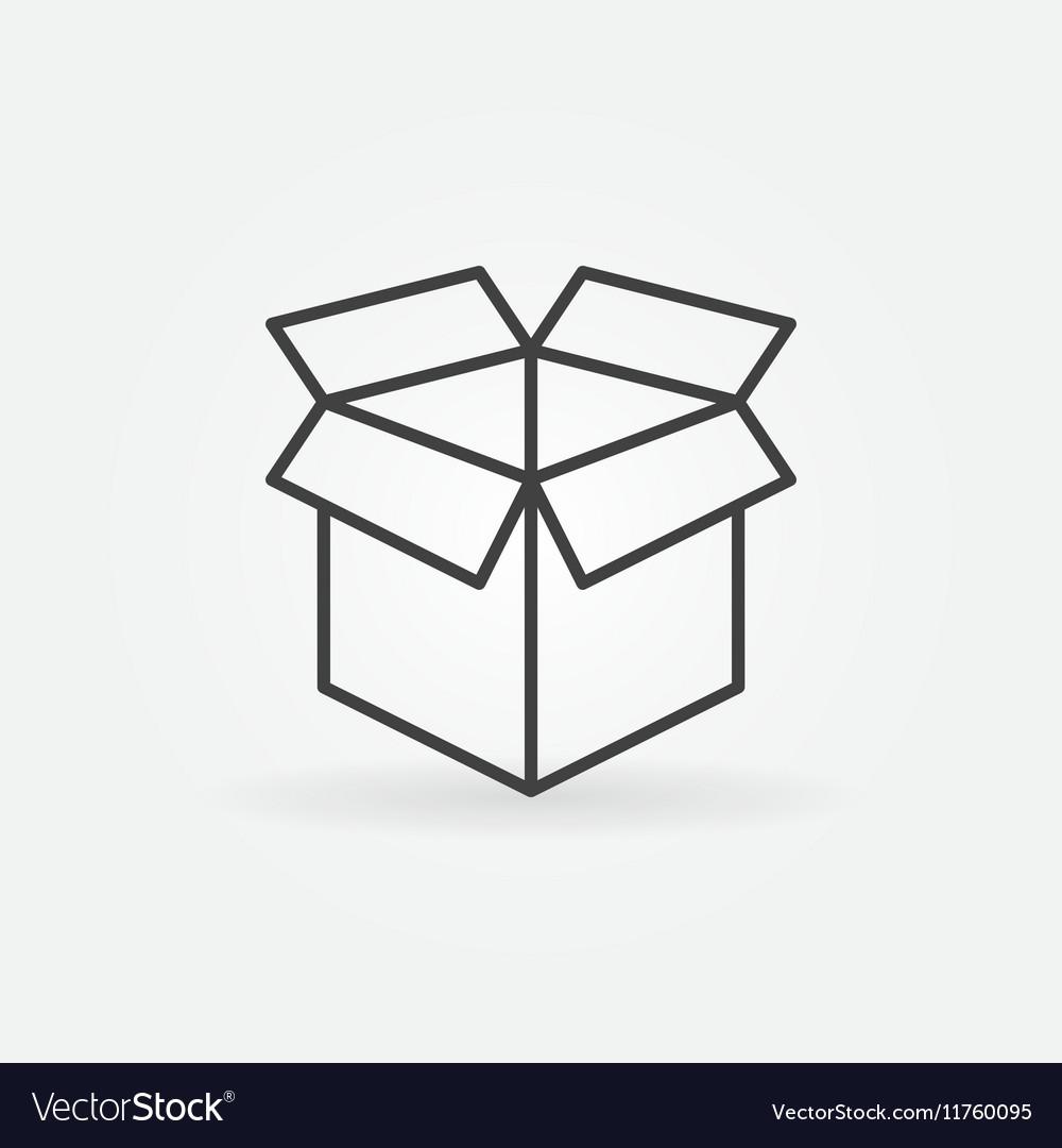 Open box line icon