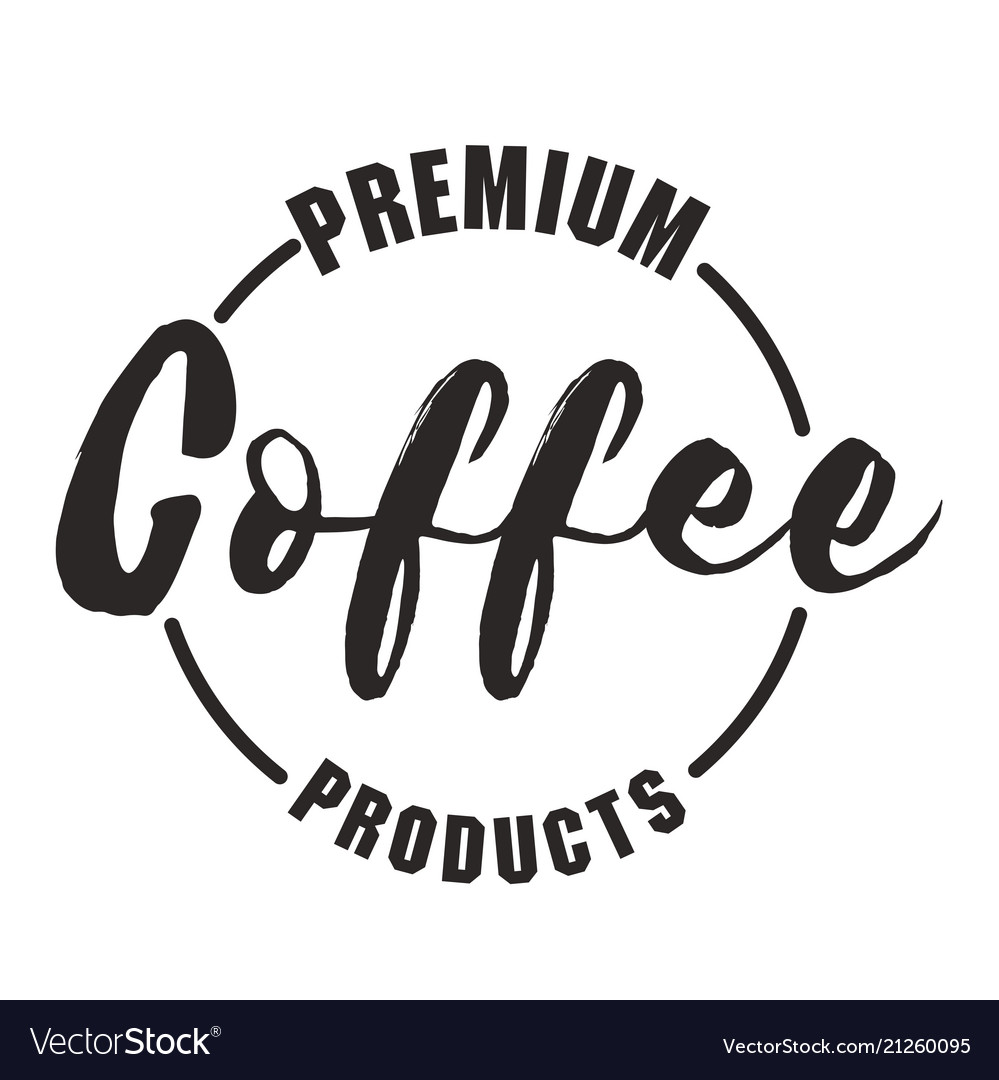 Premium coffee product circle frame white backgrou