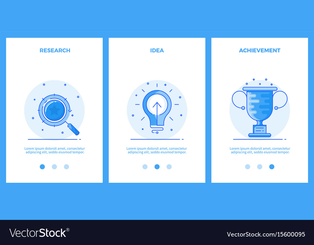 Thin line icons - business research creative idea