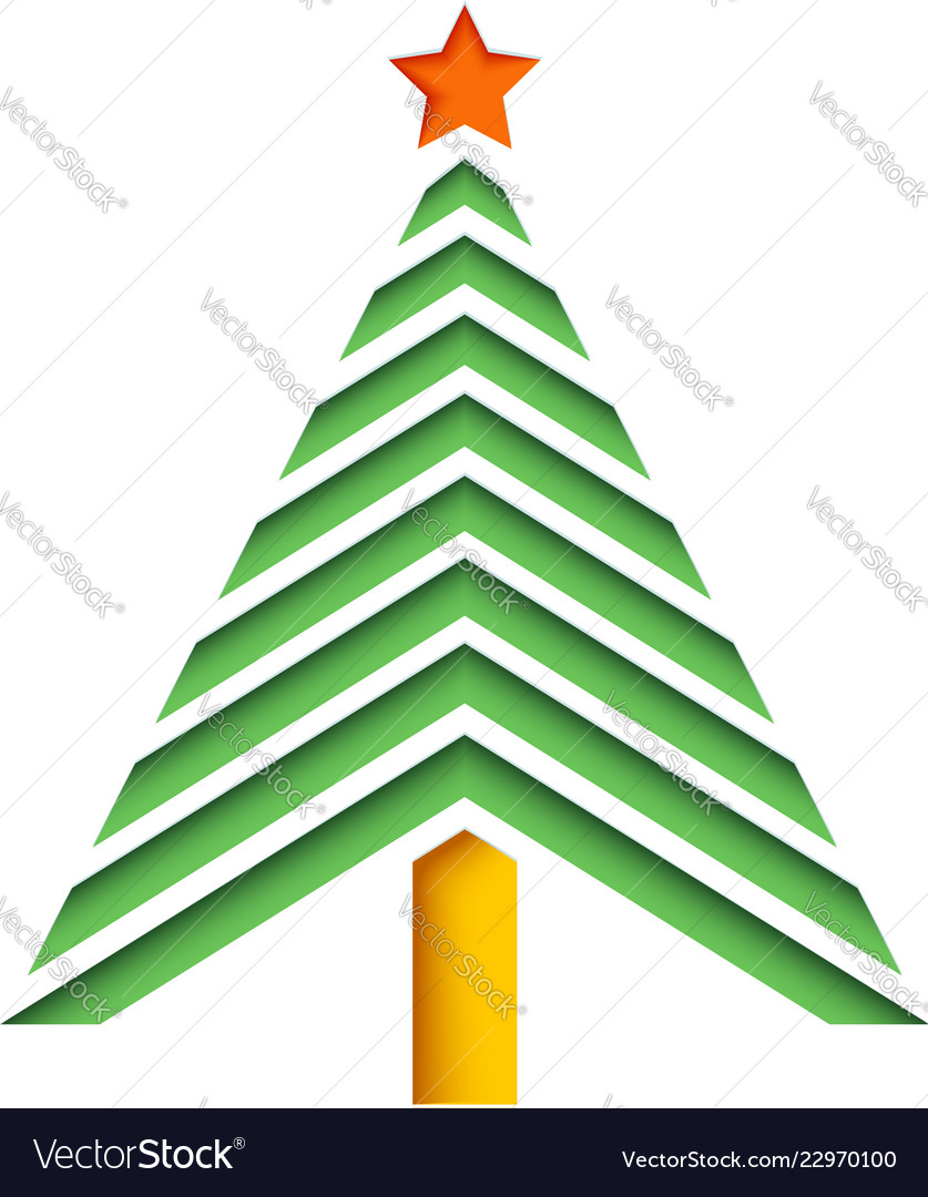 Abstract christmas tree from paper