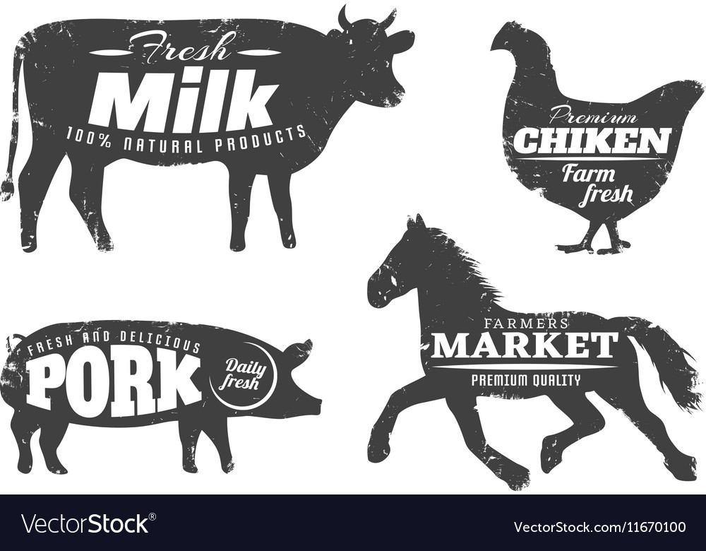 Animal Silhouettes With Farm Quotes