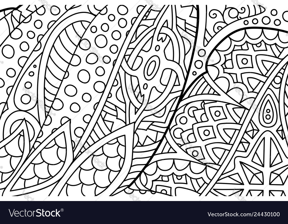 Beautiful Abstract Zen Art For Coloring Book Pages