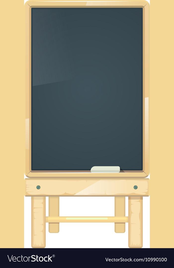 Blank menu board blackboard in wooden