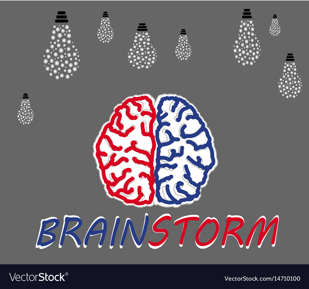 Brainstorming creative idea vector image