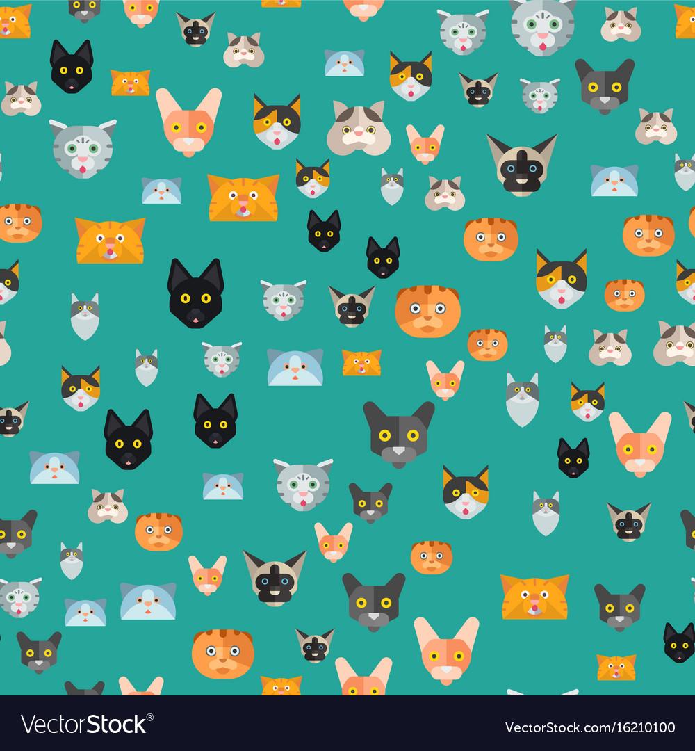 Cats cute animal seamless