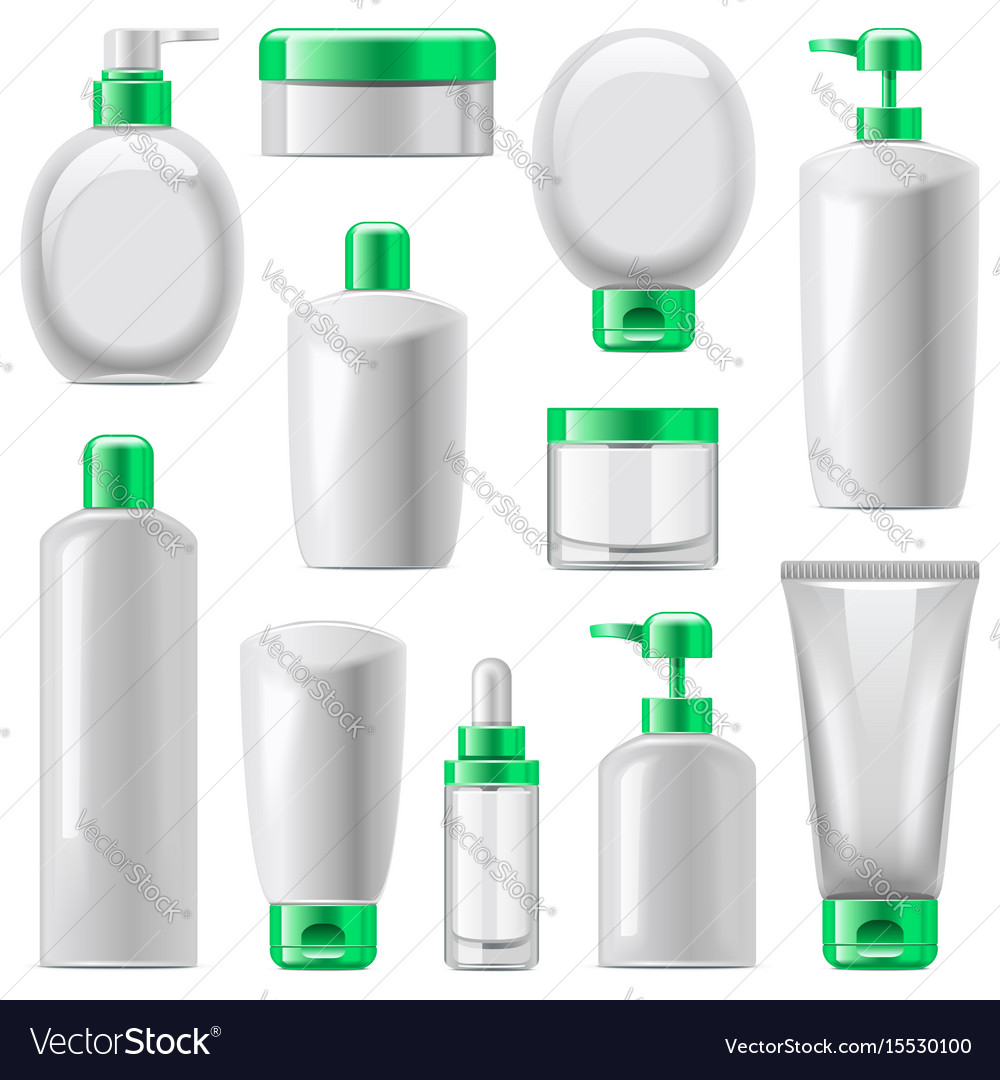 Cosmetic packaging icons set 13 vector image