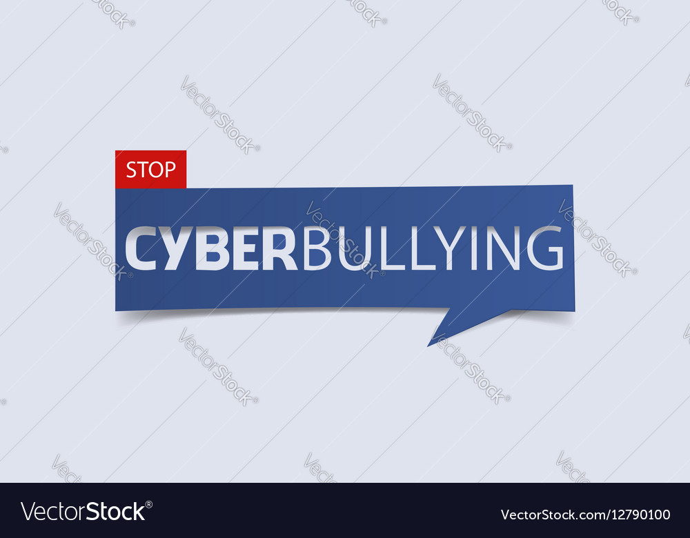 Cyberbullying banner template isolated