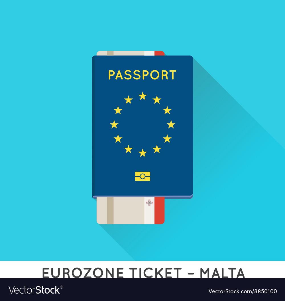 Eurozone Europe Passport with tickets Air Tickets