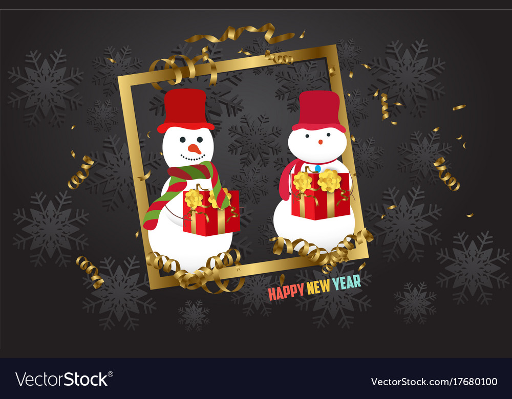 Luxury elegant merry christmas - happy new year vector image