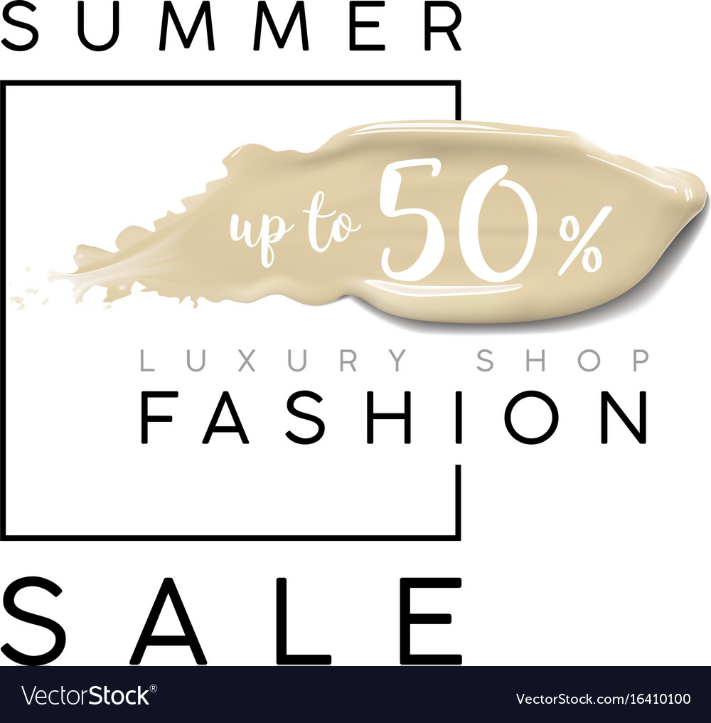 Luxury summer fashion sale banner for sales