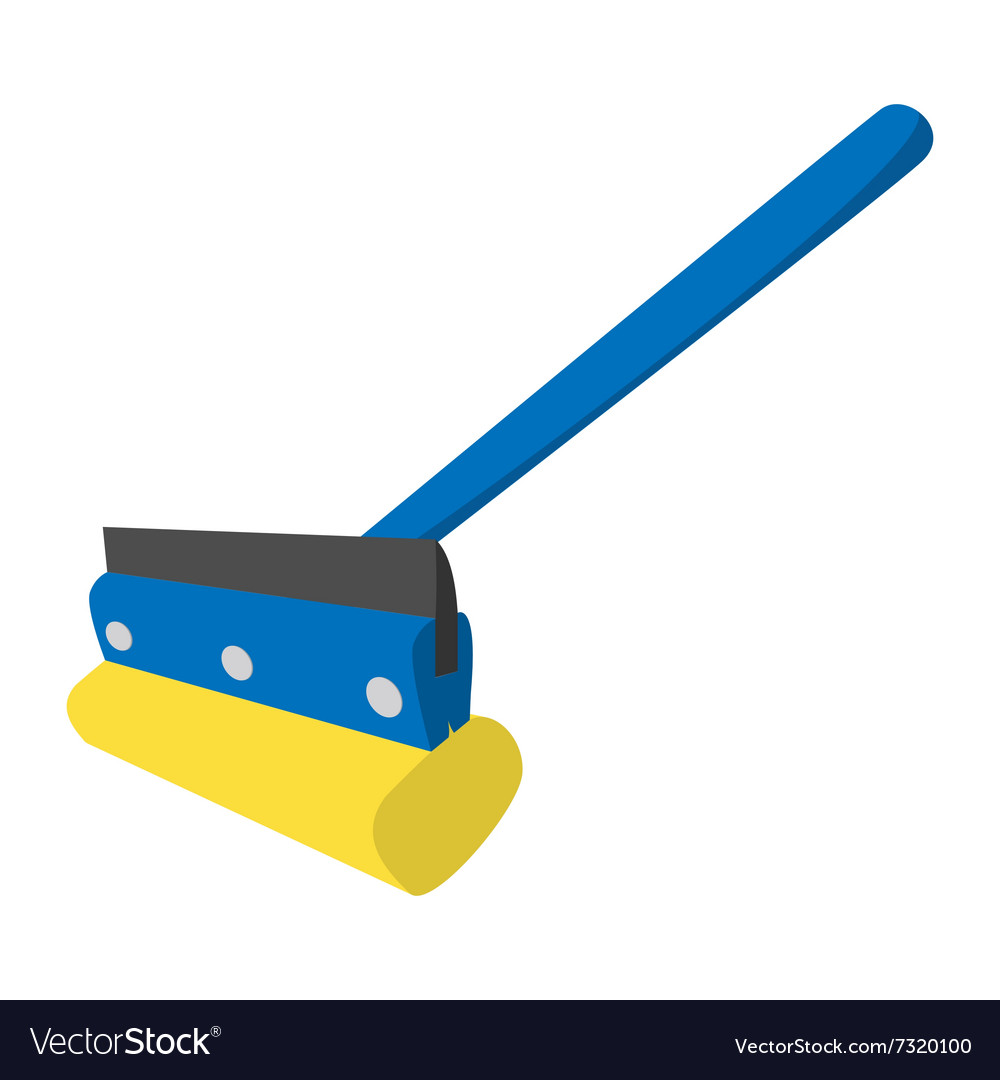 Mop for cleaning windows icon