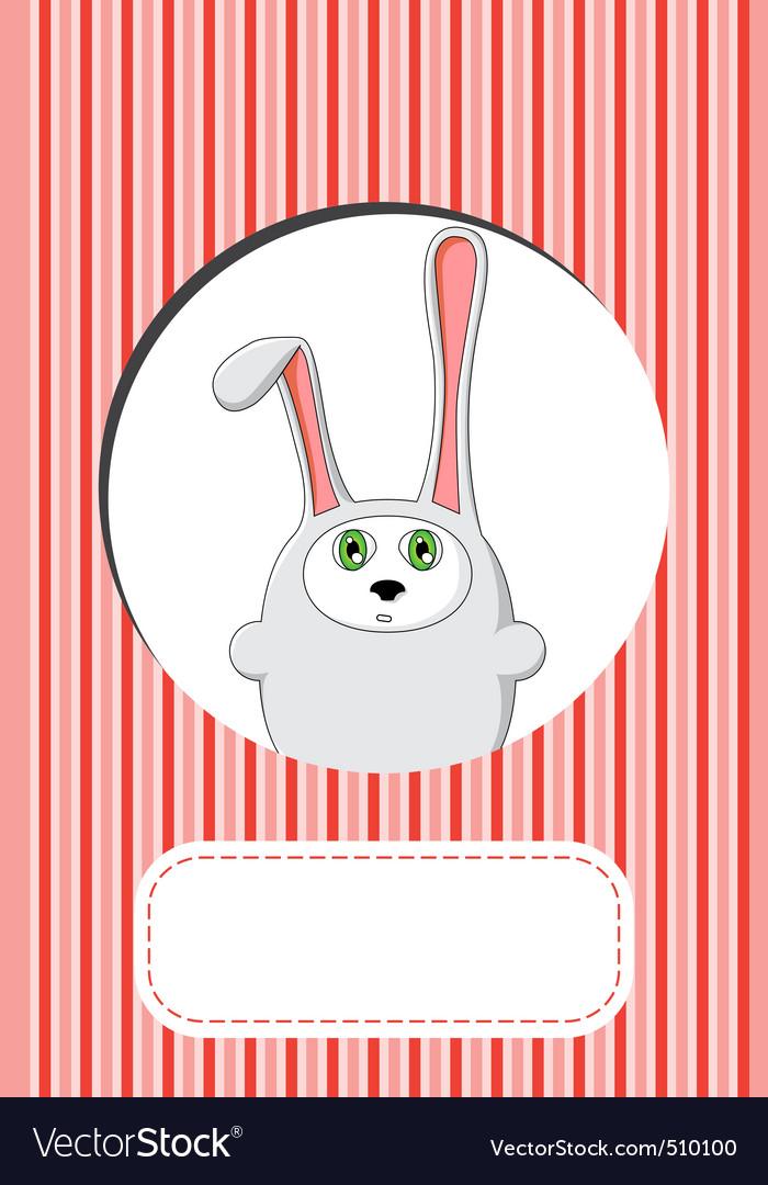Rabbit gift card design