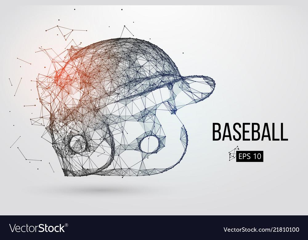 Silhouette a baseball helmet
