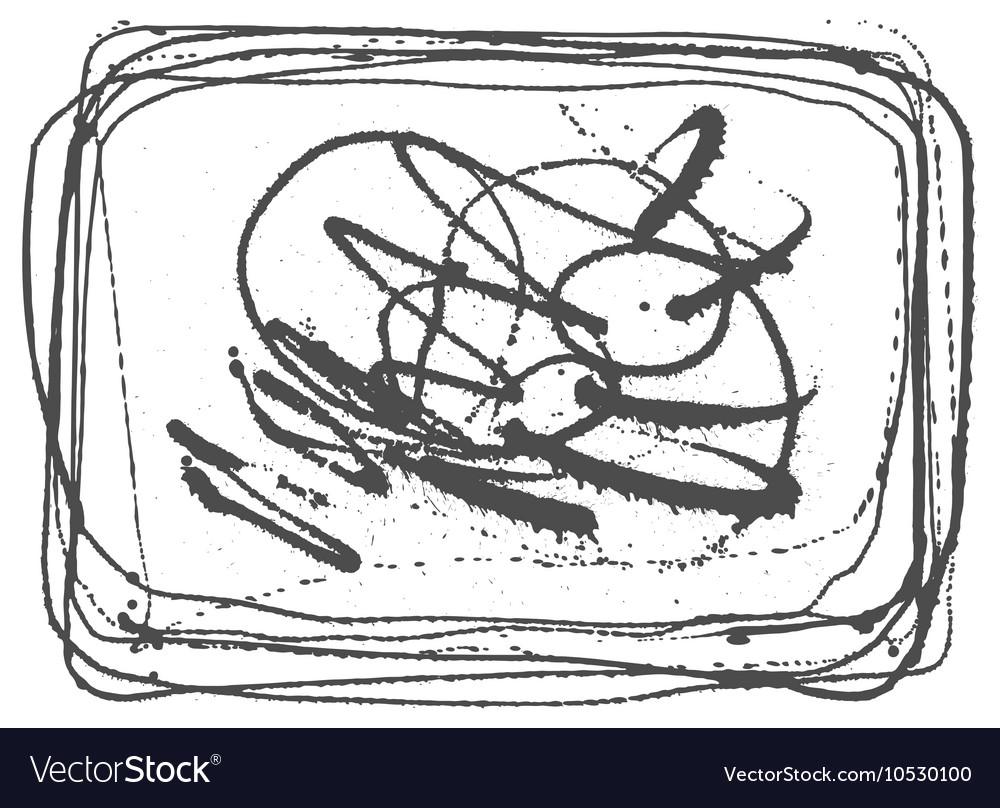 Splatter Black Ink Background in frame