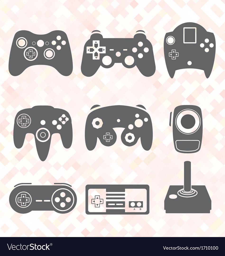 Video Game Controller Silhouettes
