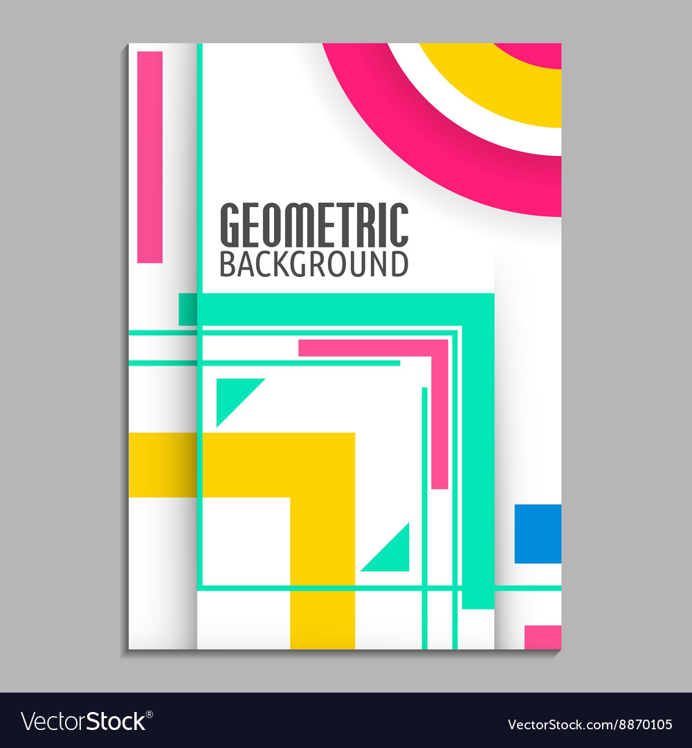 Abstract flyer brochure design template cover