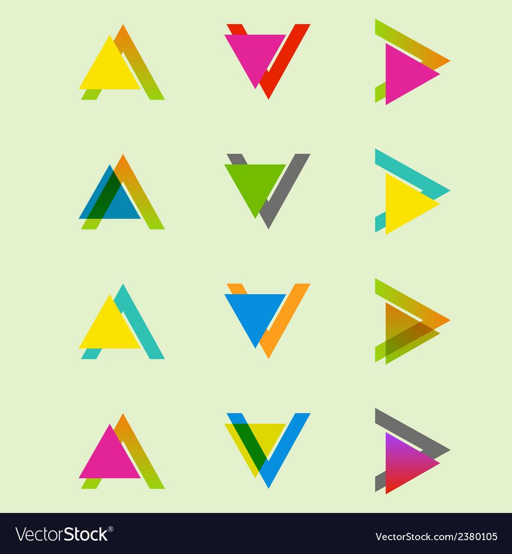 Arrow sign icon set design eps10