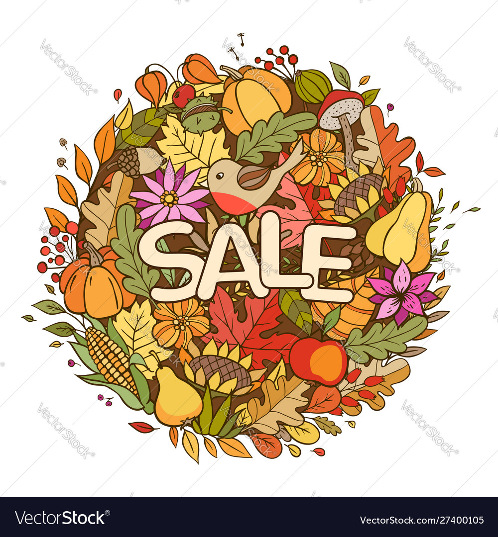 Autumn seasonal sale background