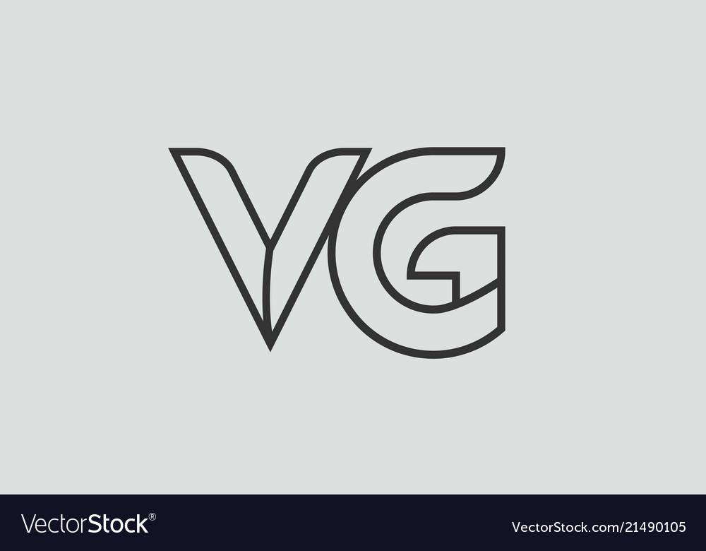 Black And White Alphabet Letter Vg V G Logo Vector Image