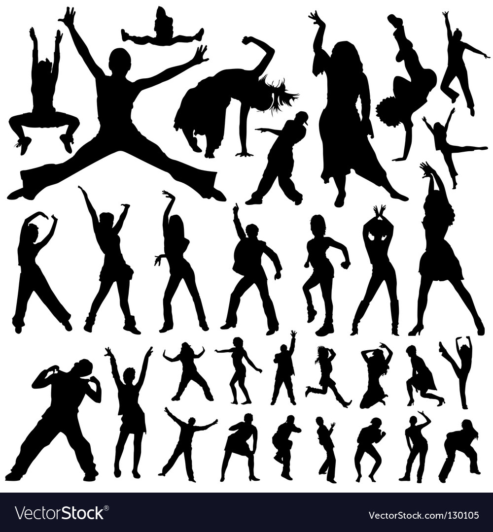 Dancing and party people vector image