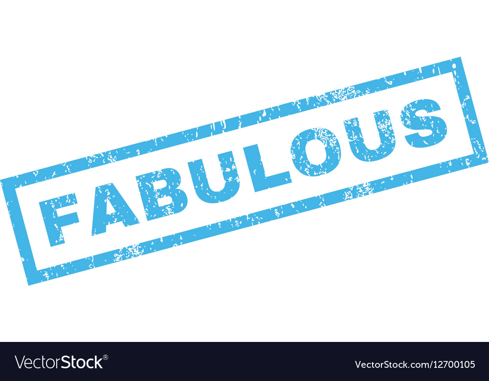 Fabulous Rubber Stamp vector image