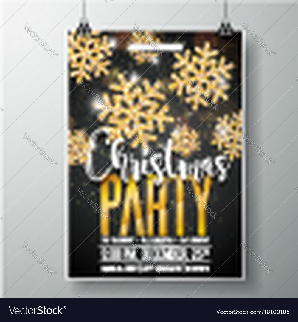 Merry christmas party poster design