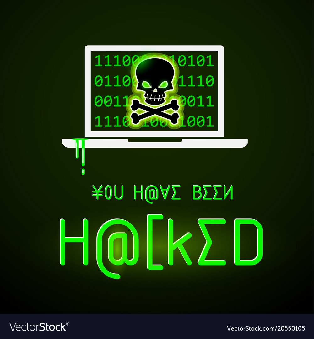 message you have been hacked royalty free vector image