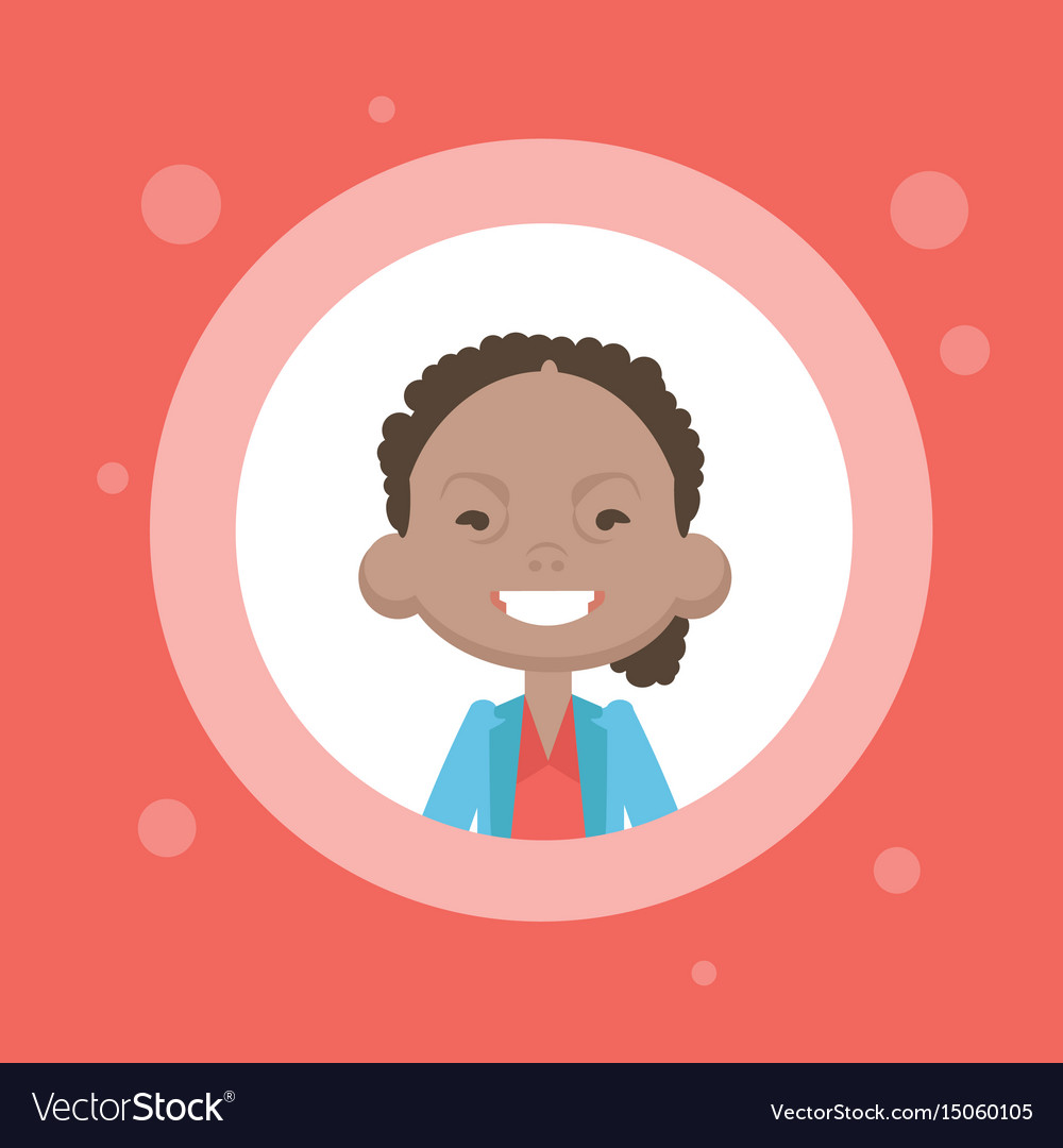 Profile icon female avatar african american woman vector image