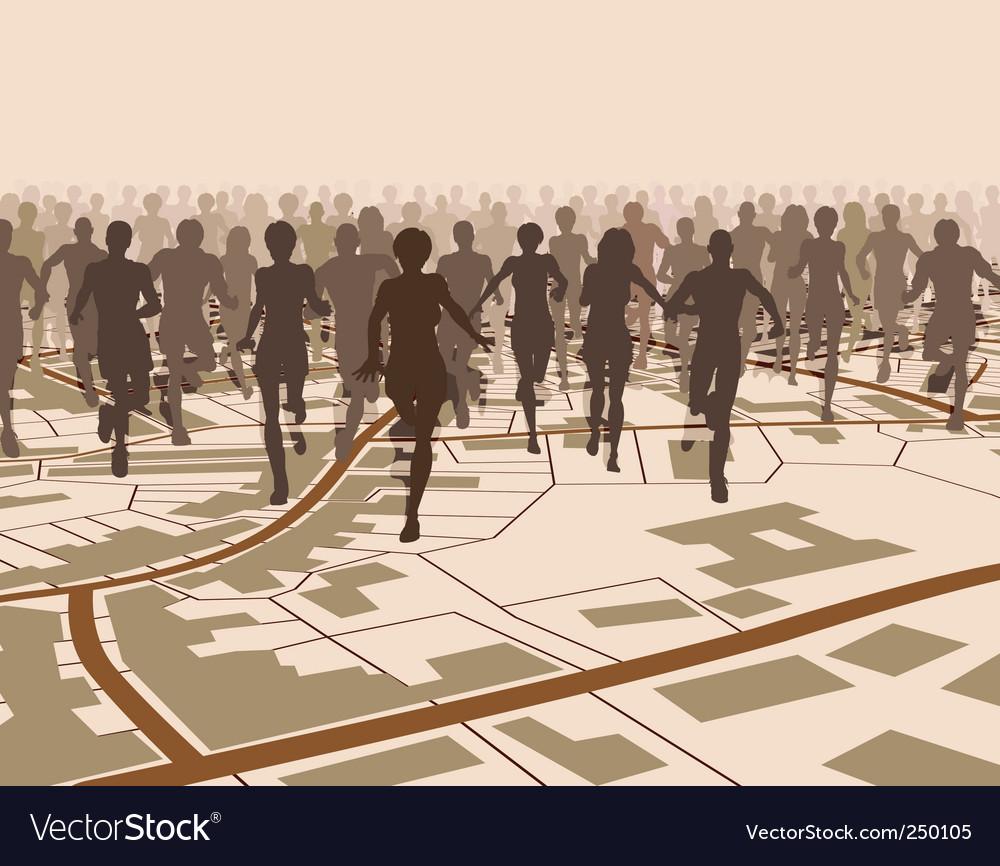 Town run vector image