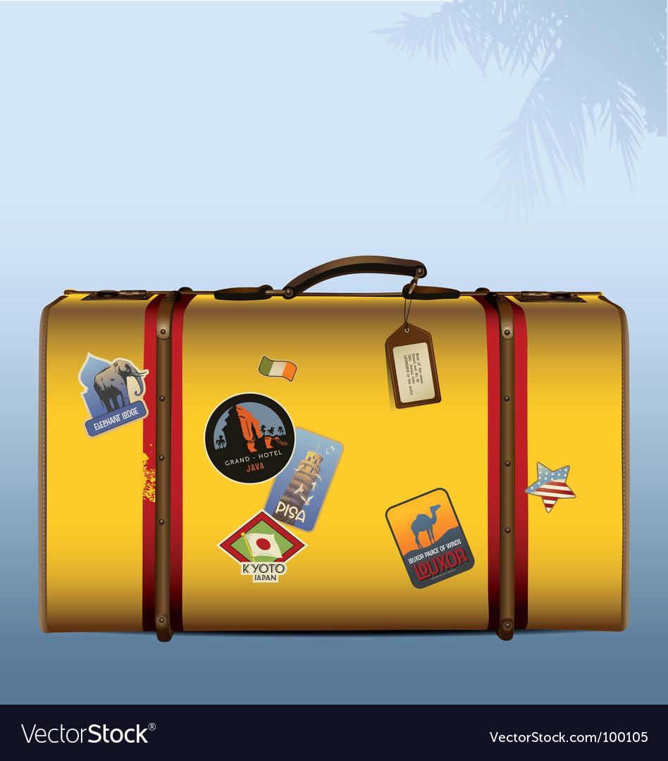Vintage suitcase yellow