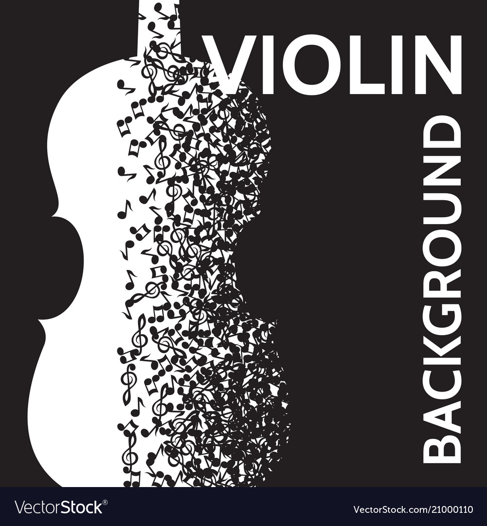 Abstract background with violin and notes