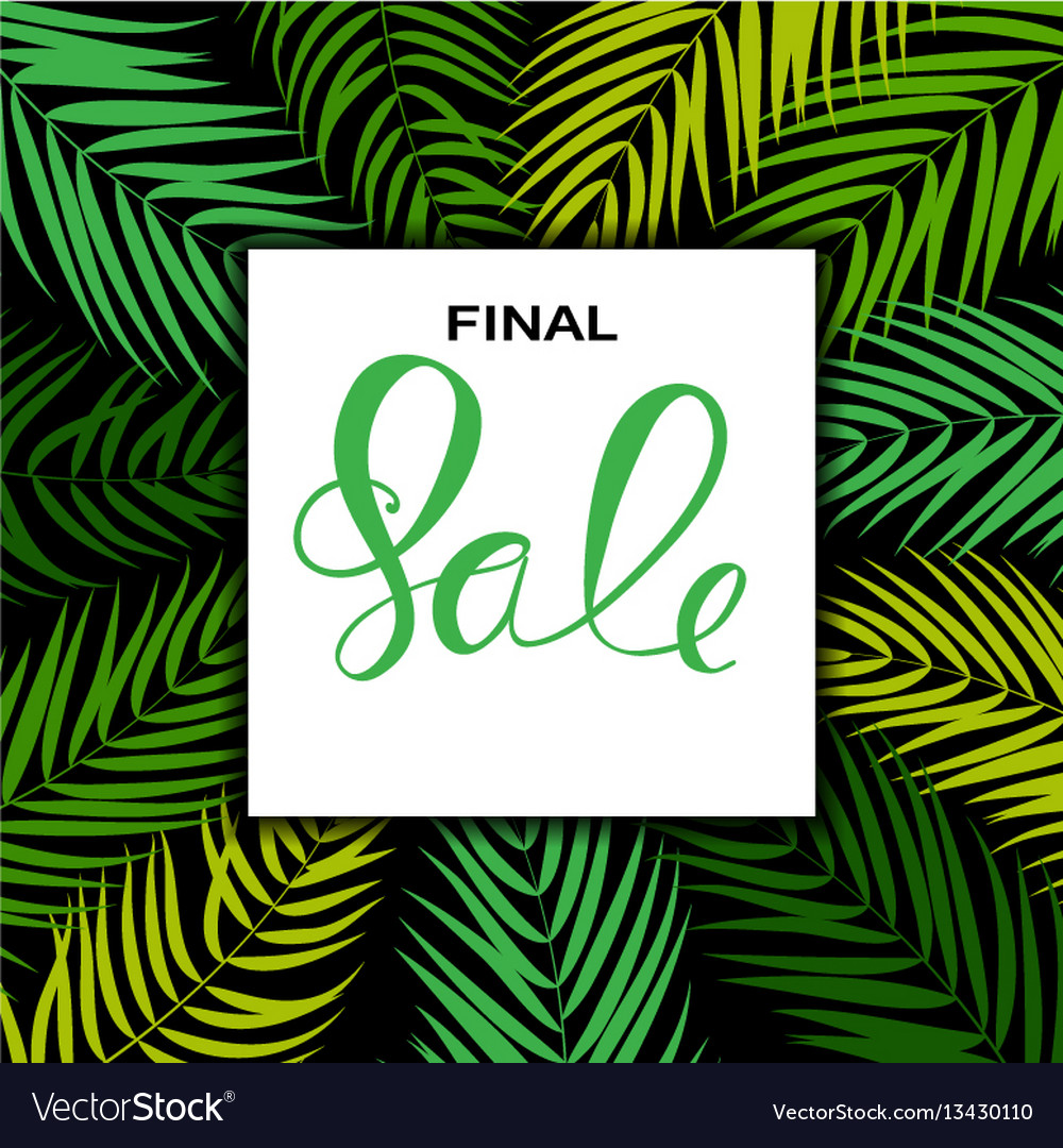 Abstract designs final sale banner template with
